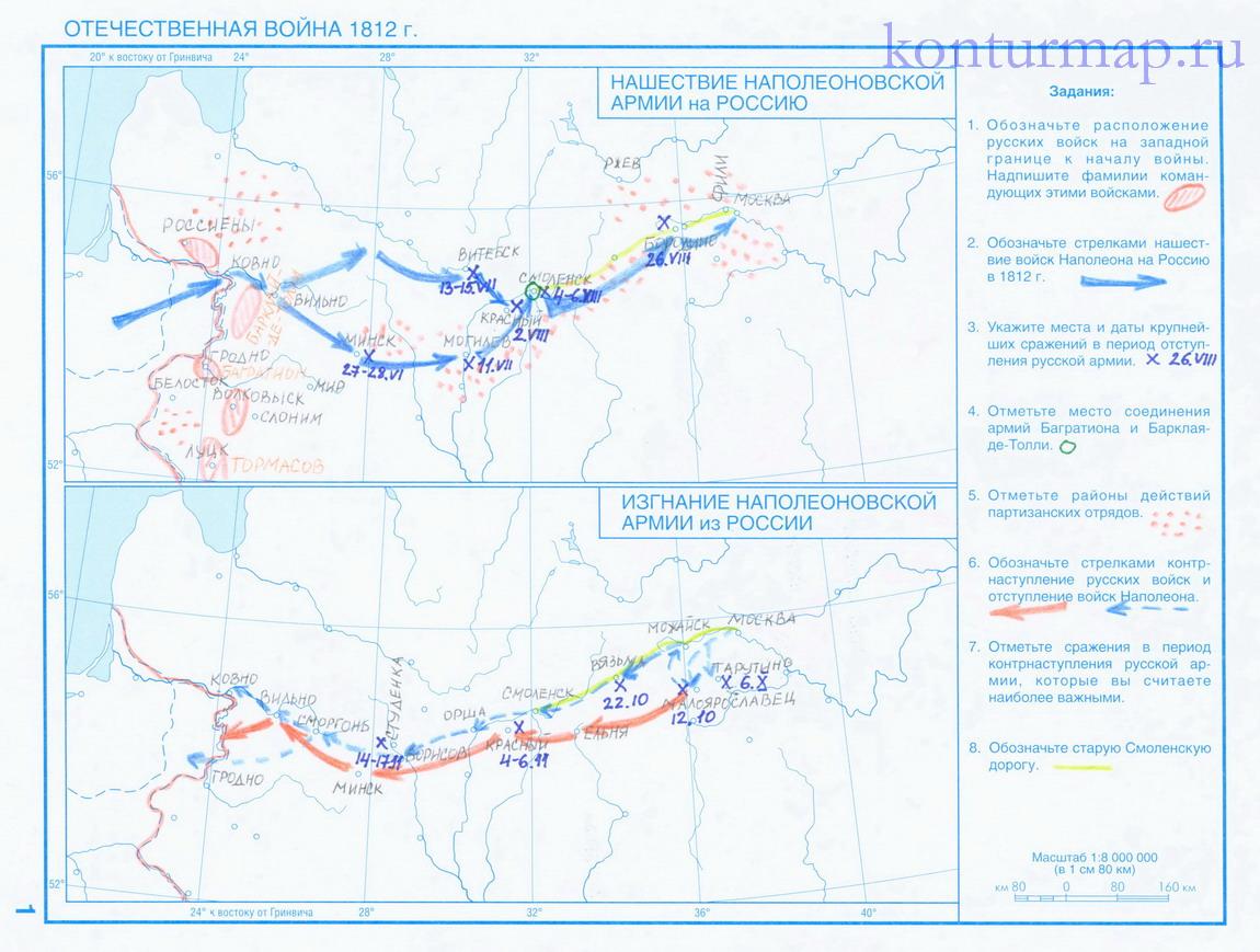 Крымская война карта гдз