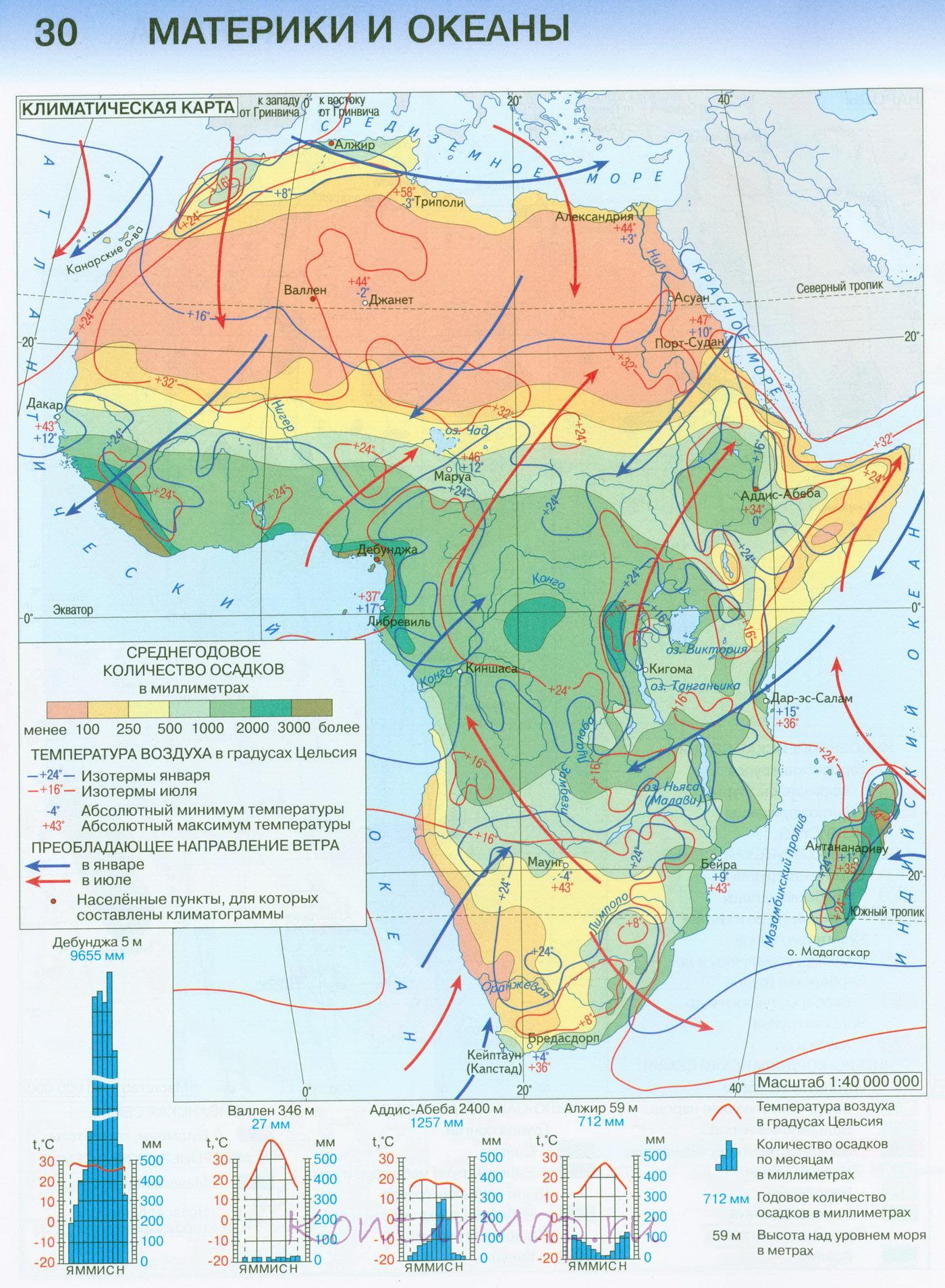 Afrika Klimaticheskaya Karta 30