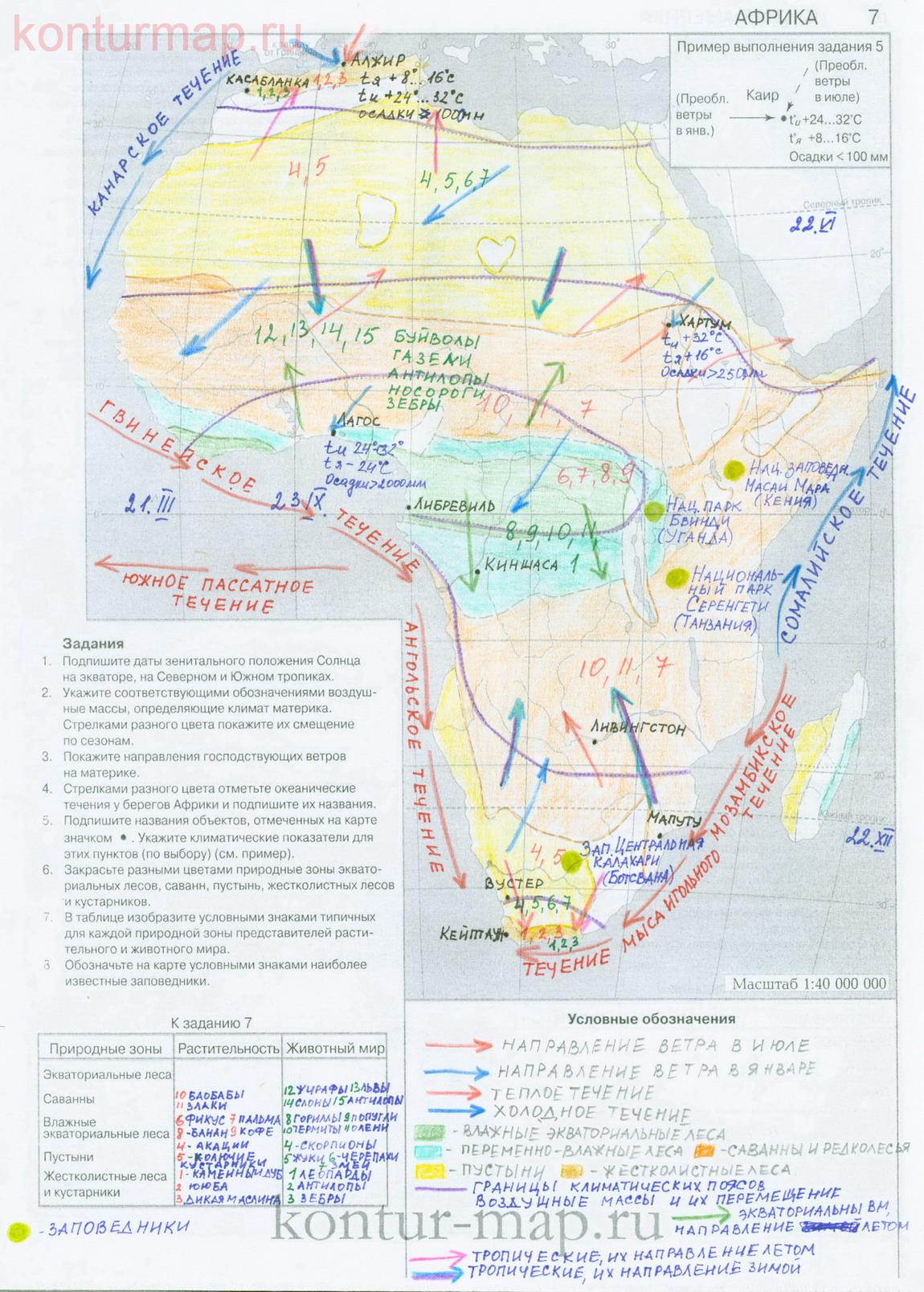 Гдз погеографии контурнаю карта 7 класса